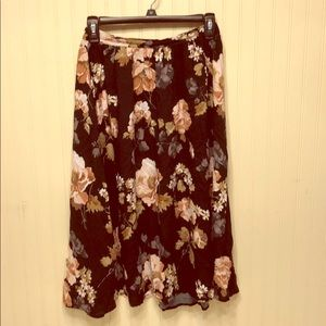 Abercrombie and Fitch floral midi skirt small
